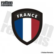 France Flag French Shield Badge Sticker Decal