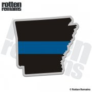 Arkansas State Thin Blue Line Decal AR Police Sheriff Vinyl Sticker