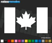 "Canada Flag Decal 6""x3.6"" Canadian Maple Leaf Vinyl Car Window Sticker"