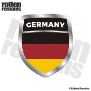 Germany Flag Shield Badge Sticker Decal
