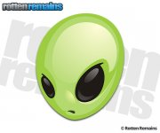 Alien Decal Area 51 Roswell Green Martian Sci Fi Vinyl Sticker (LH)