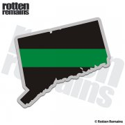 Connecticut State Thin Green Line Decal CT Military Ranger Sticker