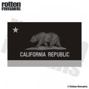 California State Subdued Flag Black/Gray Decal CA Vinyl Sticker