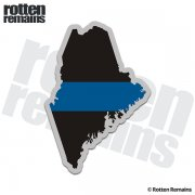 Maine State Thin Blue Line Decal ME Police Sheriff Vinyl Sticker