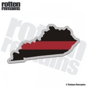 Kentucky State Thin Red Line Decal KY Firefighter Fire Rescue Sticker