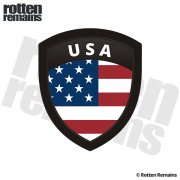 American Flag United States USA Shield Badge Sticker Decal