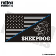 American Subdued Flag Sheepdog Thin Blue Line Sticker Decal