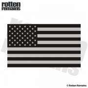 "American Subdued Flag REFLECTIVE Decal 5""x3"" USA Military Vinyl Sticker (RH)"