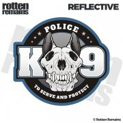 "Police K9 Unit K-9 Officer 5""x4.6"" Reflective Car Sticker Decal"
