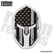 American Subdued Flag Spartan Helmet Decal United States Sticker