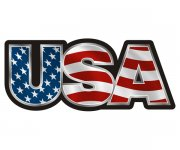 USA American Flag Name United States Patriot Sticker Decal