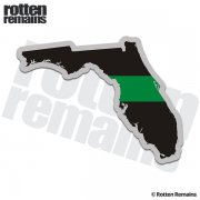 Florida State Thin Green Line Decal FL Military Ranger Sticker