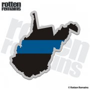West Virginia State Thin Blue Line Decal WV Police Vinyl Sticker