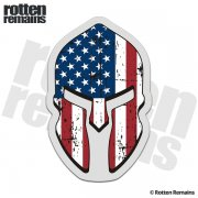 American Flag Spartan Helmet Decal United States Patriot Sticker