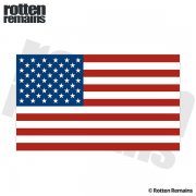"American Flag REFLECTIVE Decal 5""x3"" USA Old Glory Vinyl Car Sticker (RH)"
