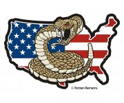 USA Map American Flag Don't Tread on Me Sticker Decal