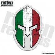 Italy Flag Spartan Helmet Decal Italian Italia Sticker