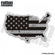 United States Subdued Flag Map American USA Sticker Decal
