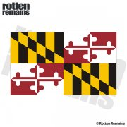 Maryland State Flag MD Vinyl Sticker Decal