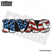 American HVAC Sticker Decal