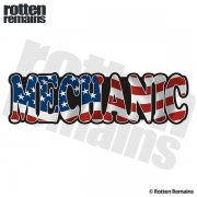 American Mechanic Sticker Decal