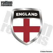 England Flag Shield Badge Sticker Decal