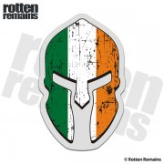 Ireland Flag Spartan Helmet Decal Irish Celtic Sticker