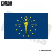 Indiana State Flag IN Vinyl Sticker Decal