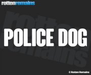 "Police Dog Decal 9""x2"" White REFLECTIVE Caution K-9 Vinyl Window Sticker V2"