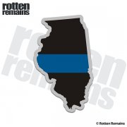 Illinois State Thin Blue Line Decal IL Police Sheriff Vinyl Sticker