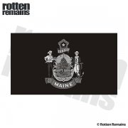 Maine State Subdued Flag Black/Gray Decal ME Vinyl Sticker