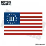 3 Percenter Nyberg Threeper Flag (RH) Sticker Decal