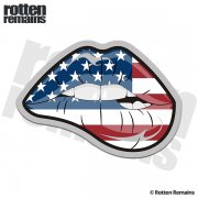 American Flag Sexy Lips Sticker Decal
