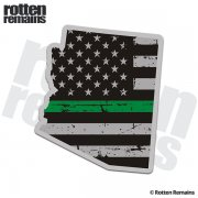 Arizona State Thin Green Line Decal AZ Tattered American Flag Sticker