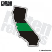 California State Thin Green Line Decal CA Military Ranger Sticker