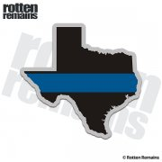 Texas State Thin Blue Line Decal TX Police Sheriff Vinyl Sticker