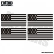 "American Subdued Flag REFLECTIVE Decal 3""x1.5"" 4 PACK USA Hard Hat Sticker"