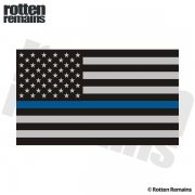 Thin Blue Line American Subdued Flag Sticker Decal (RH)