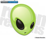 Alien Decal Area 51 Roswell Space Martian Sci Fi Vinyl Sticker (RH)