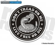 Dont Tread on Me Tattered Distressed Sticker Decal