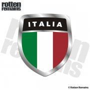 Italia Italy Flag Shield Badge Sticker Decal