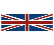 "Union Jack Flag Bumper Sticker 9""x3"" Great Britain British Vinyl Car Decal"