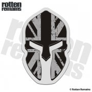 British Union Jack Subdued Flag Spartan Helmet Decal Britain UK Sticker