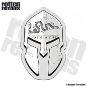 Join or Die Flag Spartan Helmet Decal American Revolution Sticker