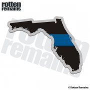 Florida State Thin Blue Line Decal FL Police Sheriff Vinyl Sticker