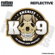 "Sheriff K9 Unit K-9 Officer 5""x4.6"" Reflective Car Sticker Decal"