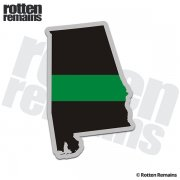 Alabama State Thin Green Line Decal AL Military Ranger Sticker