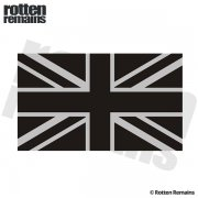 "Britain Subdued Union Jack Flag REFLECTIVE Decal 5""x3"" British Vinyl Sticker"