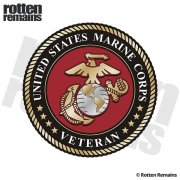United States Marine Corps Insignia Veteran Sticker Decal