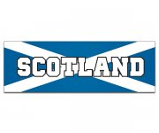 "Scotland Flag Bumper Sticker 9""x3"" Scottish Scots Vinyl Car Truck Decal"